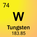 Element cell for 74-Tungsten