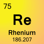 Element cell for 75-Rhenium