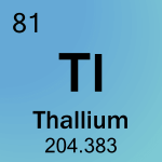 Element cell for 81-Thallium