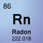 Element cell for 86-Radon