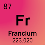 Element cell for 87-Francium