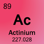 Element cell for 89-Actinium