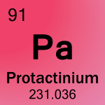Element cell for 91-Protactinium