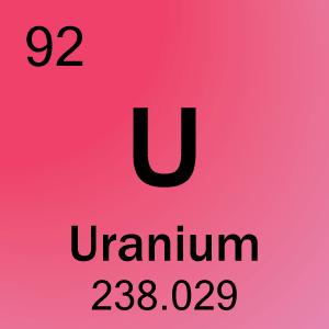 Uranium Symbol 92-Uranium Eleme...