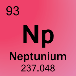 Element cell for 93-Neptunium