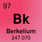 Element cell for 97-Berkelium