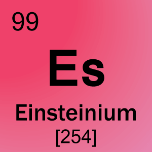 99 einsteinium element cell science notes and projects