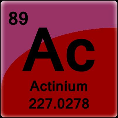 Color periodic table element cells element cell for actinium urtaz Images