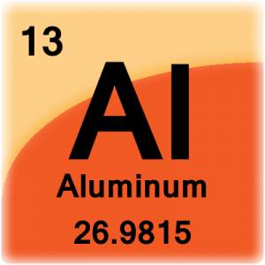 Aluminum facts atomic number 13 or al element cell for aluminum aluminum periodic table cell urtaz Images