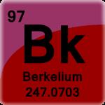 Element cell for Berkelium