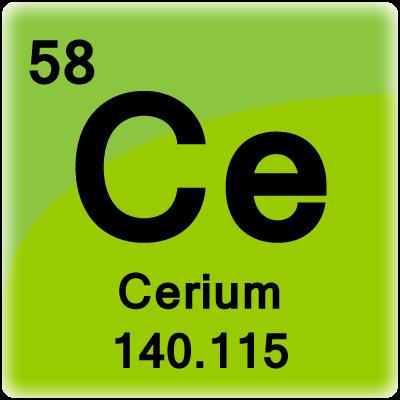 Color periodic table element cells element cell for cerium urtaz Images