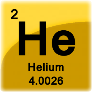 Periodic Table cell for the element Helium.