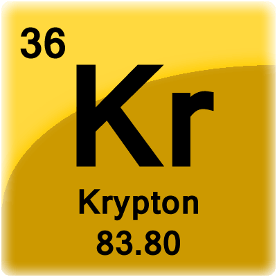 Krypton Element Periodic Table Krypton Element Cell -...