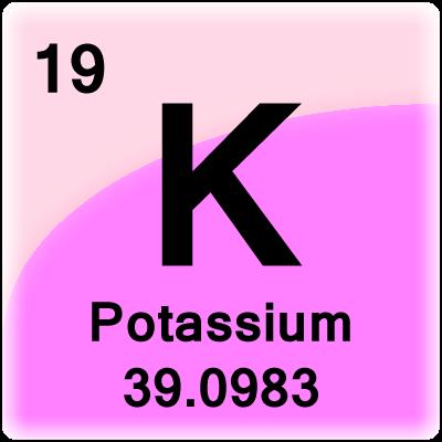 Potassium facts element cell for potassium potassium periodic table cell basic potassium facts urtaz Gallery