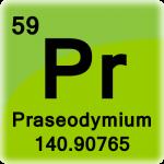 Element cell for Praseodymium