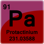 Element cell for Protactinium