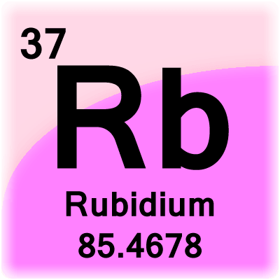 element rubidium No, rubidium is an element with periodic number 37.