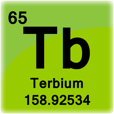 Terbium Element Cell - Science Notes and Projects