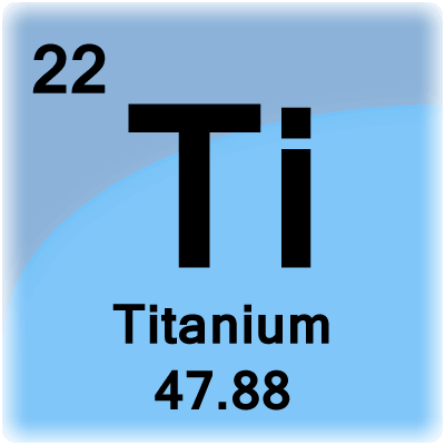 Elegant Element Cell For Titanium. Titanium Periodic Table Cell