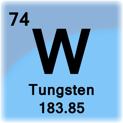 Tungsten element cell science notes and projects - Tungsten symbol periodic table ...