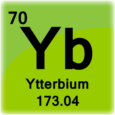 Color periodic table element cells element cell for ytterbium urtaz Images