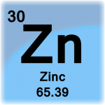 Zinc is the metal with atomic number 30 and element symbol Zn.