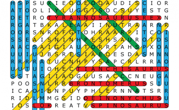 Dinosaur Word Search Solution