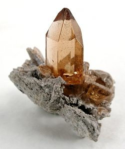 Topaz Crystal Point and Matrix (Rob Lavinsky, iRocks.com)