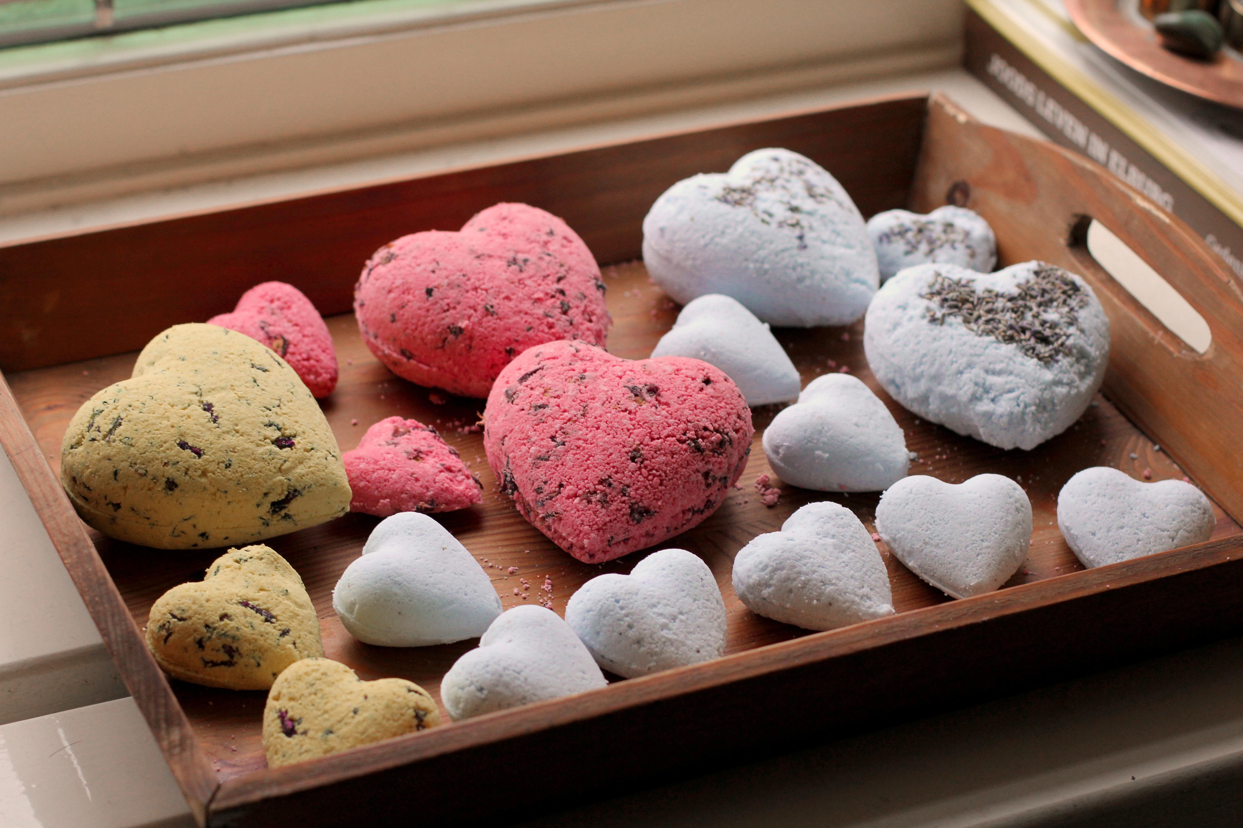 Selection of homemade bath bombs. (Erika van Rijssen)