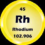 045 - Rhodium Button