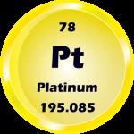 078 - Platinum Button