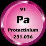 091 - Protactinium Button
