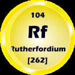 104 - Rutherfordium Button