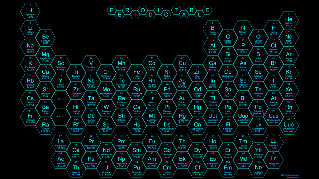 2015 - Honeycomb Periodic Table - Blue