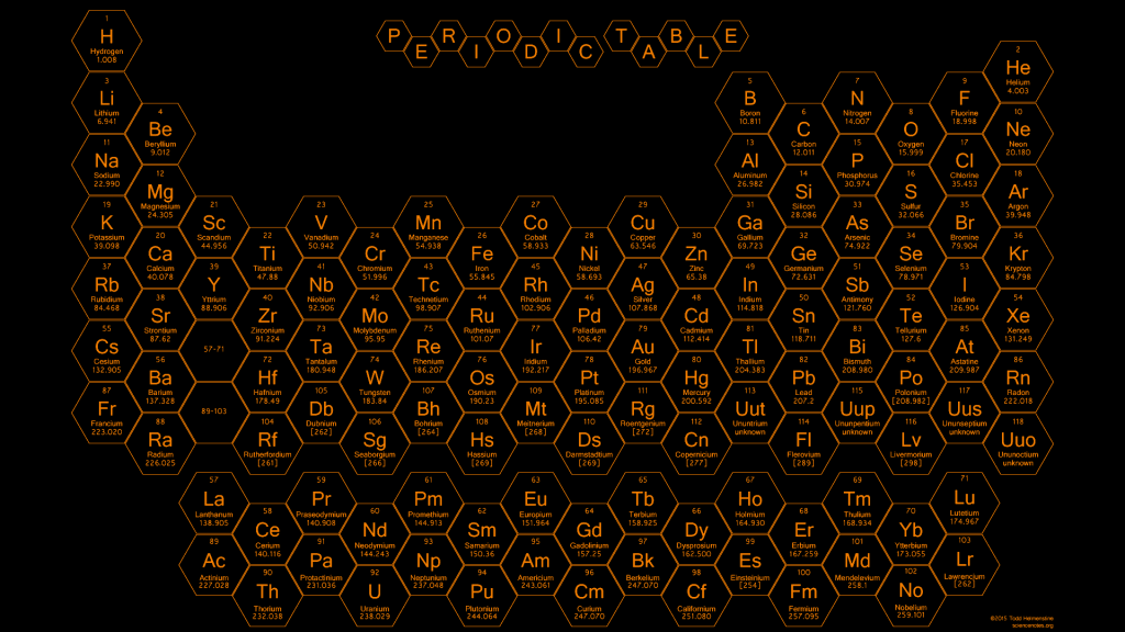 2015 - Honeycomb Periodic Table - Orange