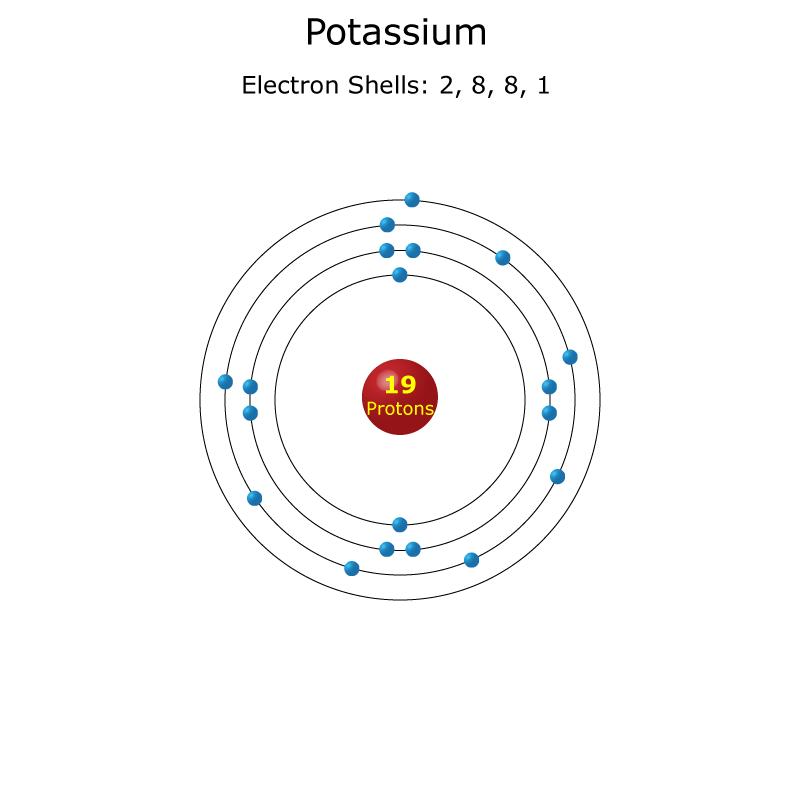 K Electron Configuration Potassium Atom - Scien...