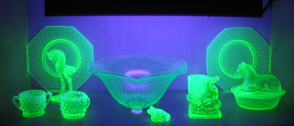 Vaseline Glass Under Ultraviolet Light (the1pony, Flickr)