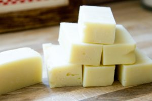 These are bars of homemade shampoo. You can add water to make liquid shampoo, if preferred. (Kim, Flickr)