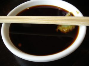 Soy sauce often does not contain any soy beans. (Melissa Doroquez)