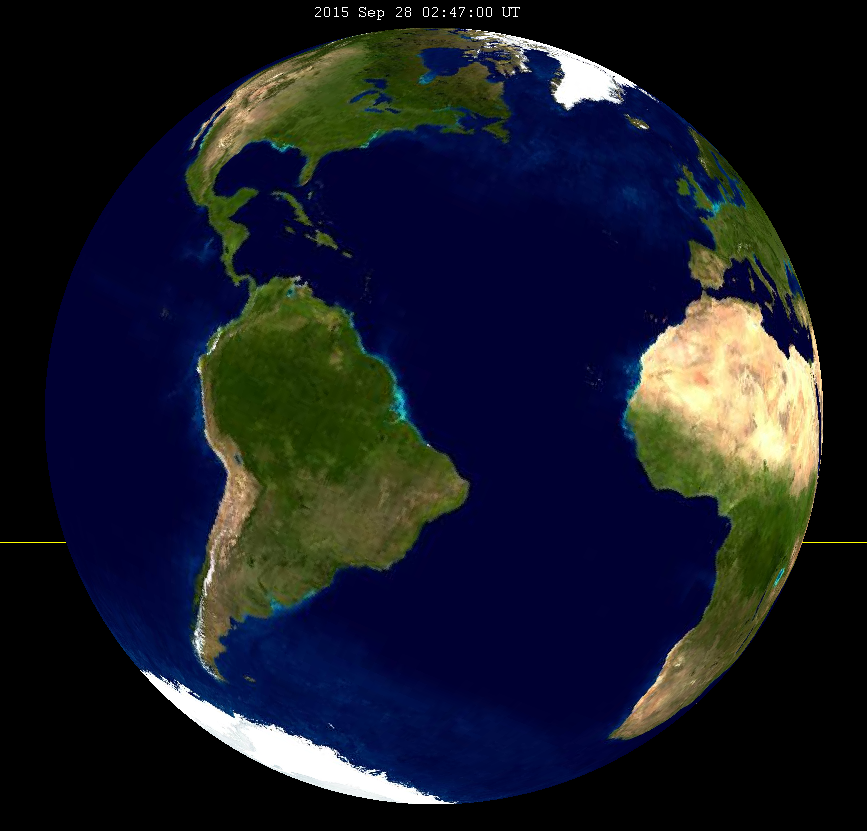 Wondering whether you can see the September 2015 total lunar eclipse? This image shows the parts of the Earth visible to the Moon at its greatest eclipse. If you are in this picture, you can see totality! (SockPuppetForTomruen)