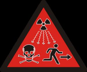 Red IAEA Ionizing Radiation Sign (Kricke)