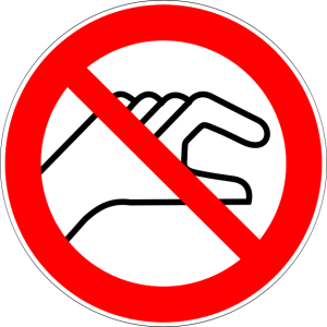 Do Not Touch Prohibition Sign (Torsten Henning)