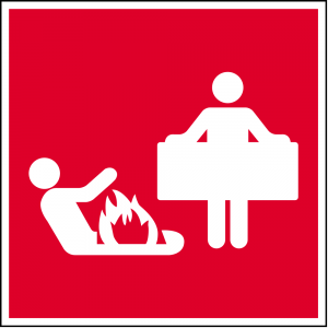 Red Fire Blanket Safety Sign (Epop)