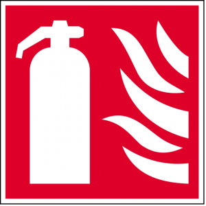 Red and White Fire Extinguisher Sign (Epop)