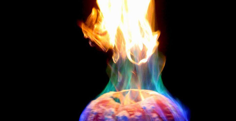 Flamethrower Halloween Jack o Lantern