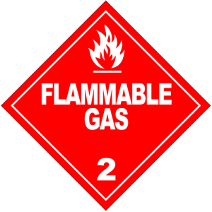 Flammable Gas Sign (Nickersonl)
