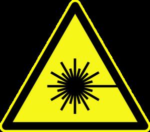 Yellow Laser Warning Sign (Torsten Henning)