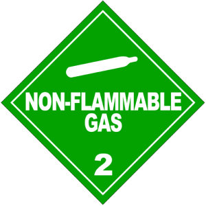 Nonflammable Gas Sign (US Dept of Transportation)