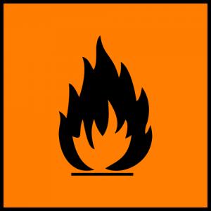 Orange Flammable Symbol (European Chemicals Bureau)