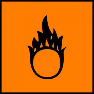 Orange Oxidizer Symbol (European Chemicals Bureau)